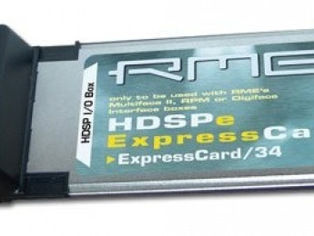 RME HDSPe ExpressCard en distribución