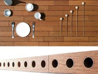 Una mesa musical para amenizar cenas y comidas