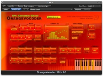 Prosoniq OrangeVocoder 10th Anniversary AudioUnit Edition