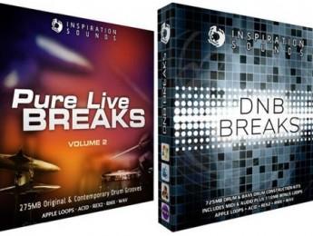 Colecciones de loops Pure Live Breaks Vol. 2y DNB Breaks