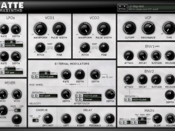 MaxSynths lanza Latte, un sintetizador vintage para Windows