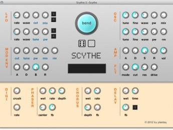 Plastaq Scythe, un sintetizador gratuito para OS X