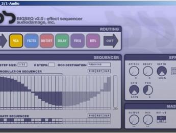 Audio Damage muestra una captura de BigSeq2