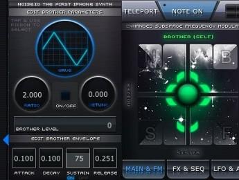 Sintetizador Noise.io para iPhone