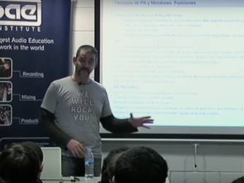 SAE Session de Jaume Fernández sobre sonido directo