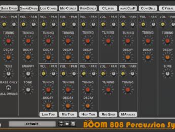 Boom 808 Percussion Synth, un clon de la caja de ritmos Roland TR-808, ya disponible para Reason