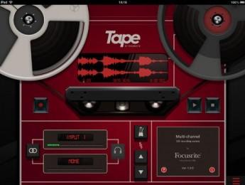 Focusrite Tape, una app gratuita de grabación para iPad
