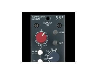 Rupert Neve Designs 551 Inductor EQ, nuevo módulo serie 500