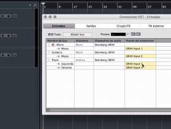 Mini tutoriales para Cubase Pro 8: crear un bus mono o estéreo (II)