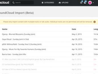 Mixcloud permite importar directamente de SoundCloud