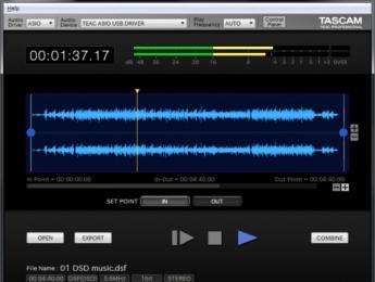 Tascam Hi-Res Editor, una aplicación gratuita para trabajar con formatos de alta resolución