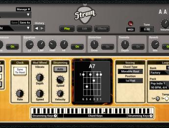 Strum GS-2 de AAS, rasgando guitarras desde un teclado
