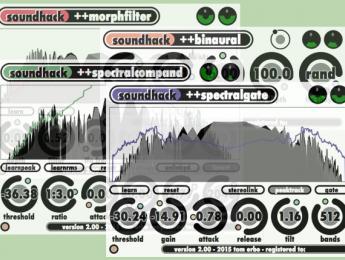 Segunda versión de los clásicos Spectral Shapers de soundhack