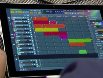Demostración de una versión multi-touch de Bitwig para Windows
