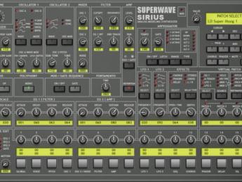 SuperWave Sirius, filtros a lo Moog para renovar Tarkus