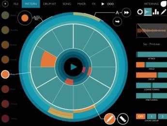 Patterning, una nueva caja de ritmos con secuenciamiento circular para iPad