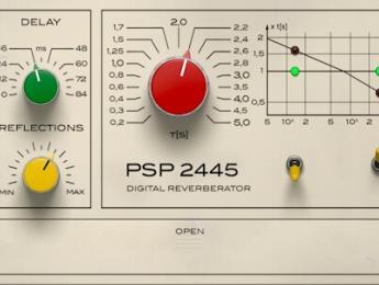 PSP 2445, una reverb digital vintage basada en EMT 244 y 245