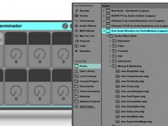 One Knob Wonders, 64 efectos de Isotonik para Ableton Live