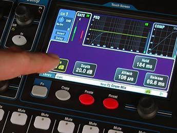 Procesamiento de canal, memorias y control DAW con los mezcladores Qu de Allen & Heath