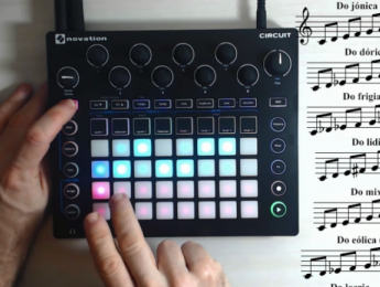 Escalas y modos, un acercamiento con Novation Circuit