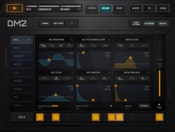 Audionomy DM2 apuesta por la síntesis de percusión en iPad