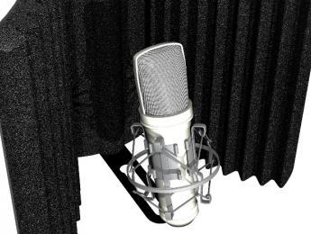Auralex MudGuard v2, una cabina de aislamiento vocal portable que pasa de cóncava a convexa
