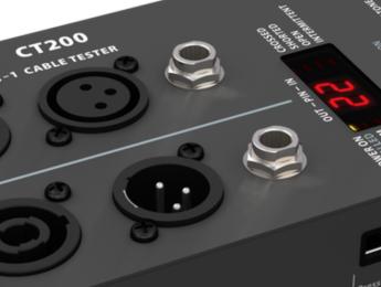 Behringer CT200 comprueba 8 tipos de cable audio y datos