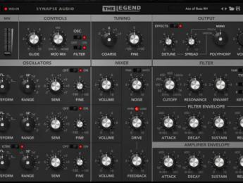 Synapse The Legend, plugin MiniMoog de los creadores de Dune