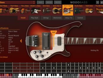 IK Multimedia Modo Bass, modelado físico para síntesis de bajo