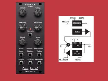 Dave Smith Instruments DSM03, un retardo Eurorack con aroma Karplus-Strong