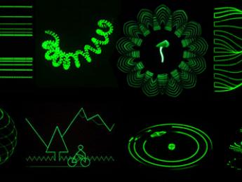 La asombrosa música visual creada para osciloscopio