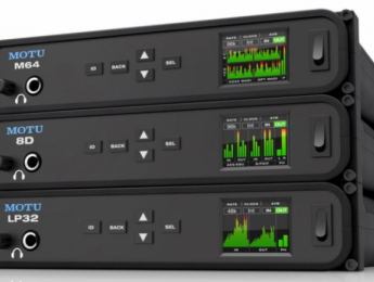 MOTU M64, 8D y LP32, nuevas interfaces de audio conectables entre sí