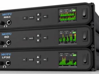 MOTU M64, 8D y LP32, nuevas interfaces de audio conectables entre sí