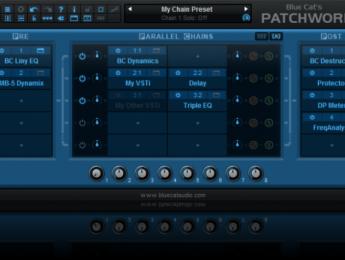 Blue Cat renueva los hosts de plugins PatchWork 2 y MB-7 Mixer 3