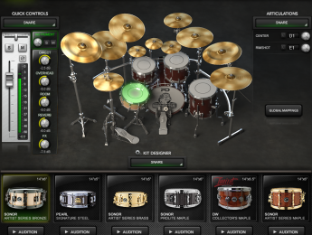 Perfect Drums, batería virtual que permite integrar nuestros samples multicapa