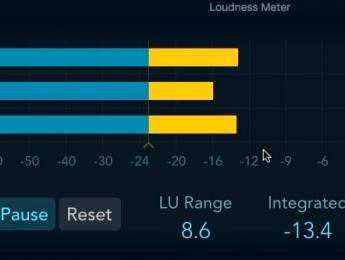 Efectos de Logic Pro X: Loudness Meter
