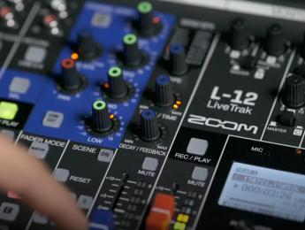 Zoom LiveTrak L-12 aúna mesa de mezclas, interfaz y grabadora