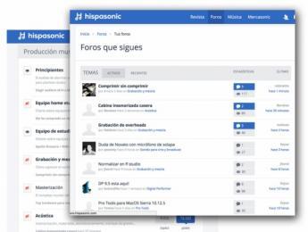 Los foros de Hispasonic, a medida: nueva opción para ver sólo los que te interesen