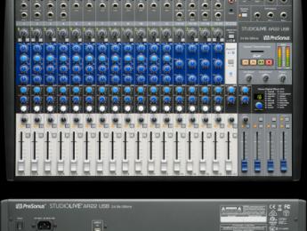 Presonus StudioLive AR22 USB, más pistas para mezclar y grabar en vivo