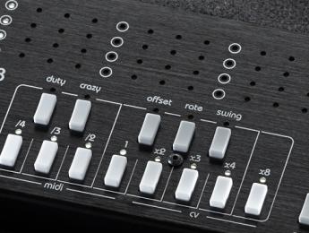 Twisted Electronics Crazy8: secuenciador MIDI y CV de 8 pistas con precio de 8 bits