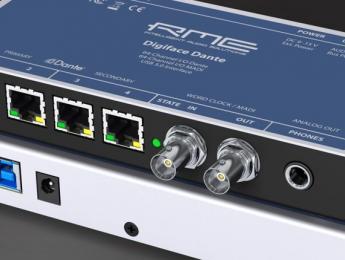 RME Digiface Dante y AVB conectan audio sobre Ethernet y USB
