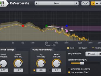 Segunda versión de DeVerberate, el plugin de Acon Digital para eliminar reverberación