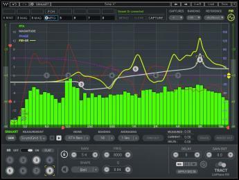 Waves TRACT, un plugin para calibrar sistemas de sonido con los datos de Smaart