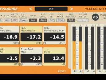 TBProAudio dpMeter 3 medidor de nivel multicanal gratuito con RMS, EBU R128, y TP (ISP)