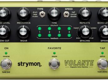 Strymon Volante, varias máquinas de eco de cinta magnética emuladas en un solo pedal