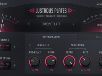 LiquidSonics Lustrous Plates, reverberación de planchas en plugin