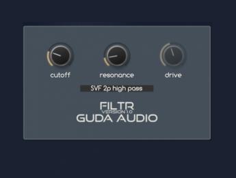 FiltR de GuDa Audio, un plugin de filtrado sencillo y gratuito