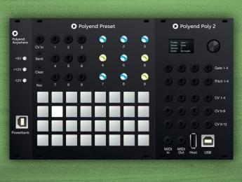 Polyend Preset puede recordar configuraciones en tu modular Eurorack