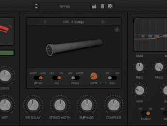 AudioThing Springs, 8 reverbs basadas en resortes emuladas en un plugin