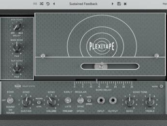 Audiority PlexiTape, una emulación del delay de cinta Echoplex EP-3 en plugin